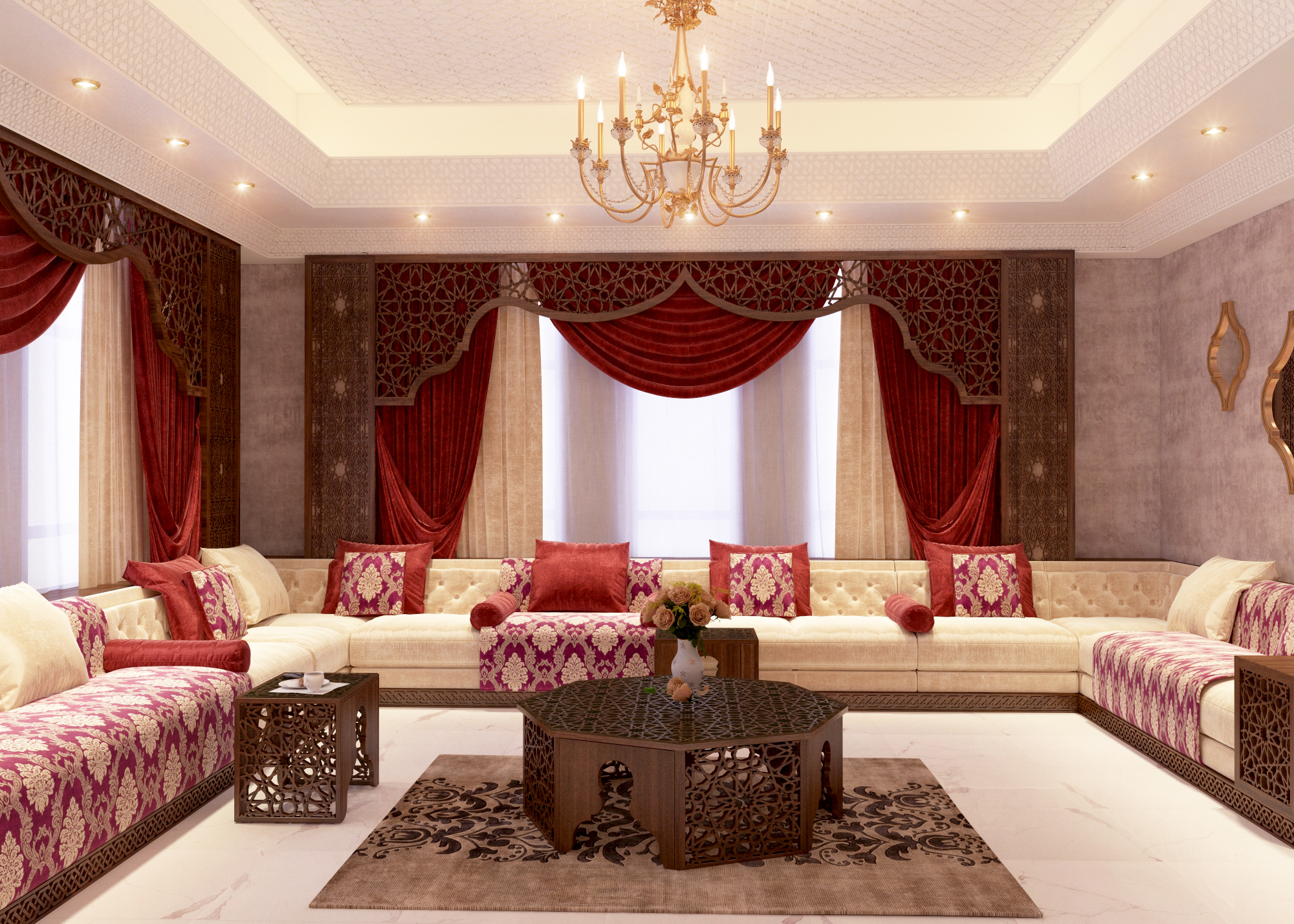 Modern decoration for villas, palaces and large spaces ...